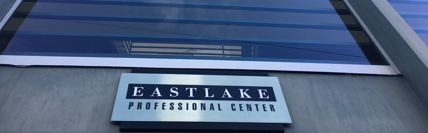 Photograph of sign on exterior of building that says Eastlake Professional Center